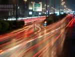 highway light in riyadh in long shutter