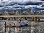 bridge on the thames river hdr