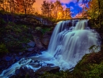 gorgeous waterfall hdr