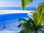 seaside pool on meeru island in the maldives