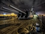 cannons on a battleship hdr