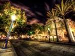 magical street at night hdr