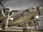 nose art on a vintage B-17 hdr