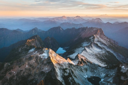 North Cascades sunset - fun, cool, sunset, mountains, nature