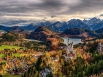 wonderous neuschwanstein castle panorama hdr