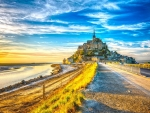fantastic mont saint michel in normandy hdr