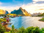 stunning landscape in norway hdr