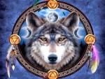 Wolf Dream Catcher