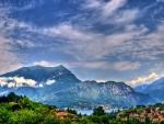 panorama of lake como hdr