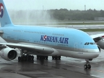 Korean Air Airbus A380-800 First Flight - Narita International Airport