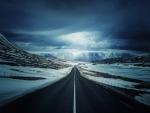 blacktop highway in iceland