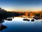 bridge over a calm river
