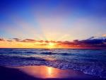 romantic sea sunset hdr