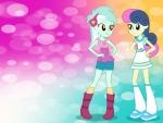 Equestria Girls Lyra & Bon Bon Wallpaper