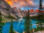 Crystal mountain lake