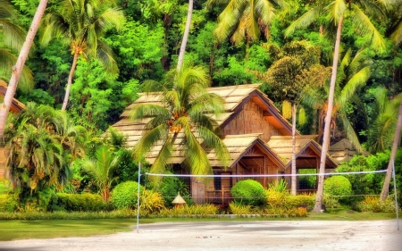 Bungalow in Philippines - islands, houses, Philippines, bungalow, love four seasons, attractions in dreams, palm trees, photography, resorts, summer, beautiful houses
