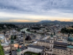 lovely panorama view of salzburg austria hdr