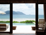 wonderful view from a window in the tropics