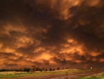 rust colored storm clouds