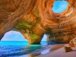spectacular sea cave