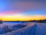 siberian winter landscape hdr