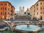fontana-della-barcaccia and spanish steps in rome