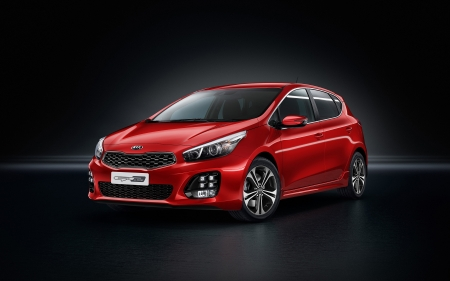 kia ceed gt - red, kia, korean, ceed