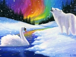 Polar Wolf and Swan