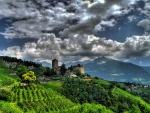 hillside monastery hdr