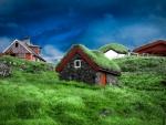 old village on a faroe island