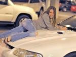 Lauren Posing on a Mustang