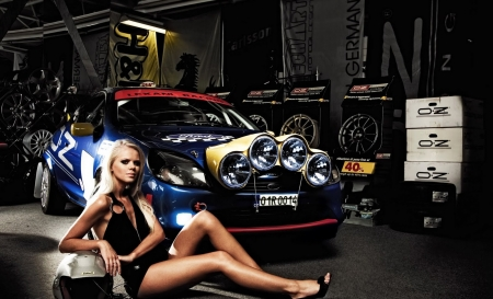 Ford Rally Car Girl