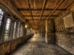 vanishing point hallway hdr