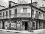 1937 store on a corner of bourbon street