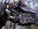 warrior and her dragon