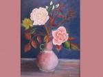 flowers still life painted by saad kilo