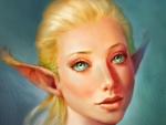 Blonde elf girl