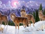 Spirit Wolf in winter