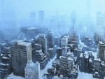 new york city under a snow storm