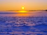 fantastic winter sunrise