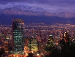 andes mountains around santiago chile