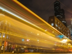 city lights in long exposure
