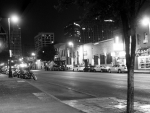 night lights on E 6th street in austin texas