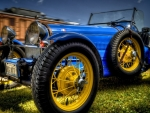 wonderful vintage bugatti roadster hdr