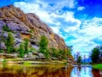superb mountain lake hdr