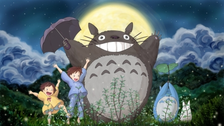 My neighbor Totoro - Totoro, Anime, Movie, Cat