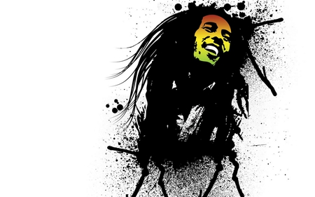 Bob Marley - yellow, marley, nice, colored, famous, jamaican, face, star, inkblots, iconic, black, rasta, singer, bob marley, reggae, ganja, entertainment, white, red, colorful, beautiful, picture, hair, miss you, green, dred, smoke, other, amazing, music, bob, colors, smile, rockstar, drawing, jamaica