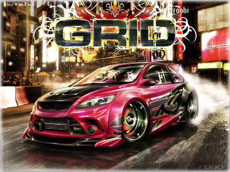 Ford Focus (GRID)  - focus, ford, grid, automotive art