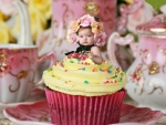 Sweet Girl on Cake