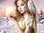 Woman and her Owl